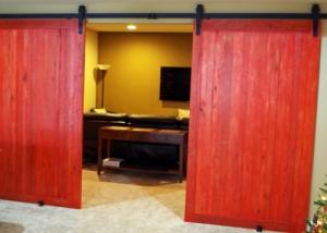 Barn Door Rustic Wood Red