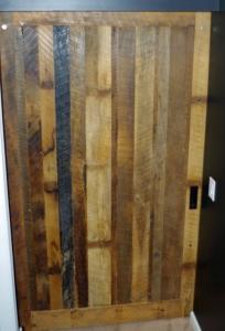 Barn Door Made from Real Barn Siding