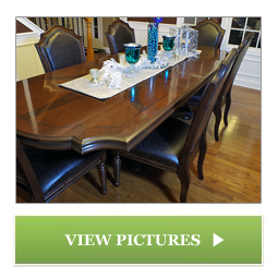 Dining Room Table Refinished by Chagrin Valley Custom Furniture of Cleveland, Ohio