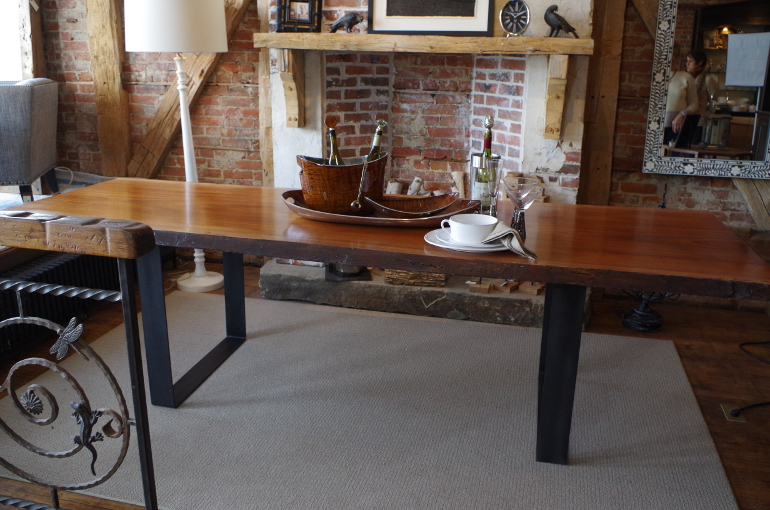 Live Edge African Mahogany Dining Table