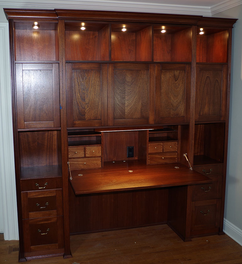 Combination Desk and Display Cabinet