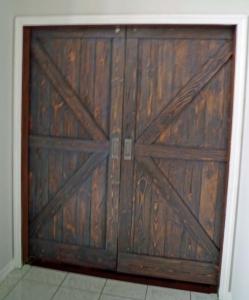 Barn Doors, Rustic Brown and Gray