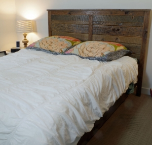Bed made from Barn Siding