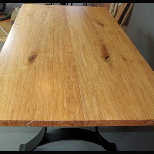 Ash Dining Table with Metal Legs