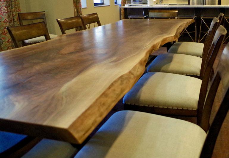 Live Edge Walnut Table For Westin