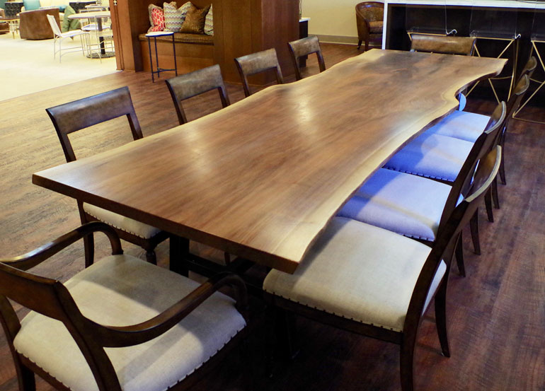 Live Edge Conference Walnut Table