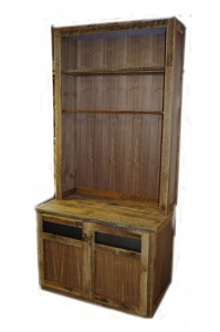 Reclaimed Wood Media Center and Display Cabinet