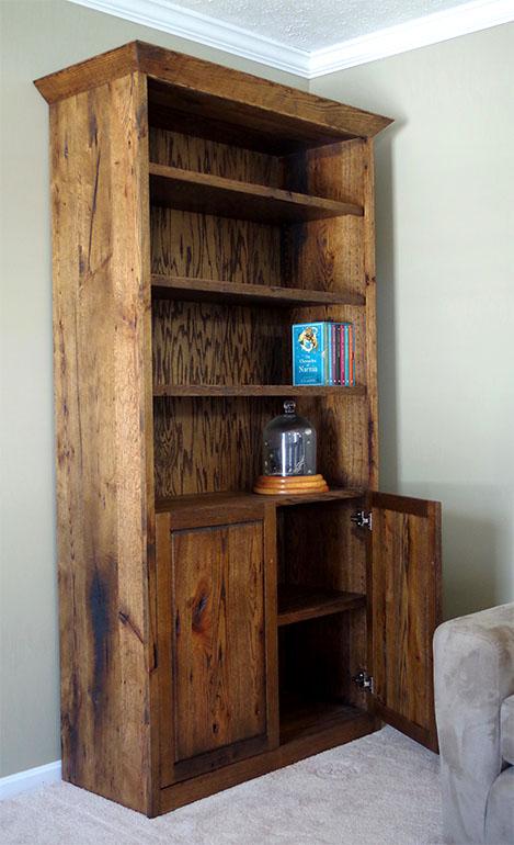 Rustic Barn Wood Bookshelves For Sale Online At CVCF