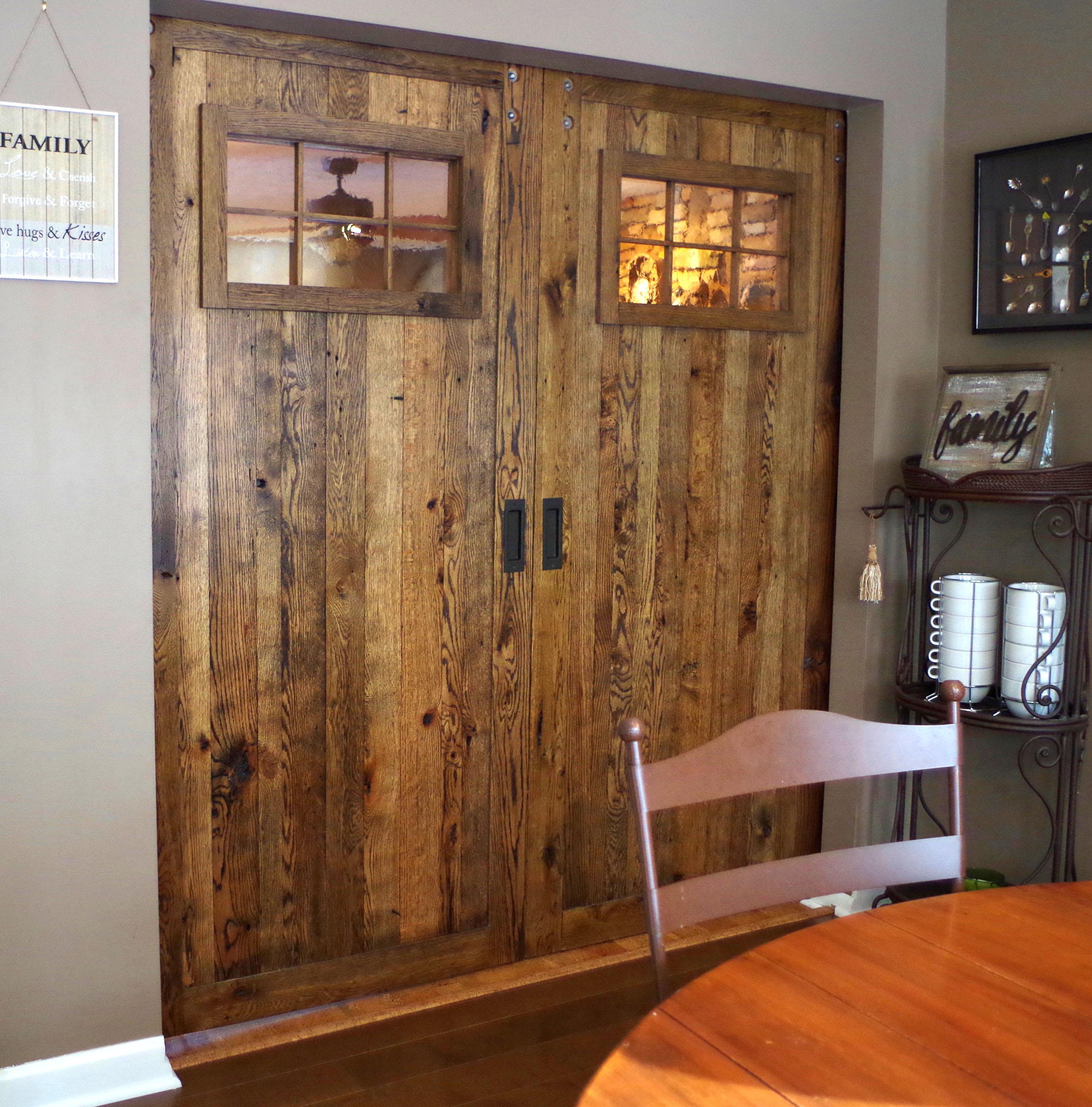 Rustic Barn Wood Sliding Doors