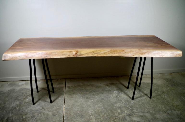 Live Edge Walnut Sofa Table