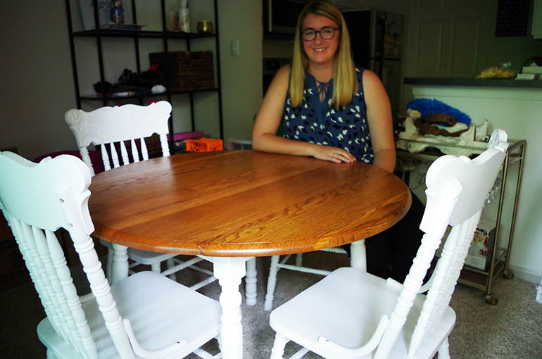 Refinished Table & Chairs For Olivia