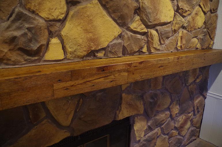 Rustic Barn Wood Mantle For Bob