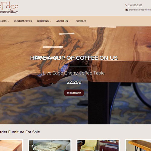 Learn About Live Edge Furniture Company, Our Online Store