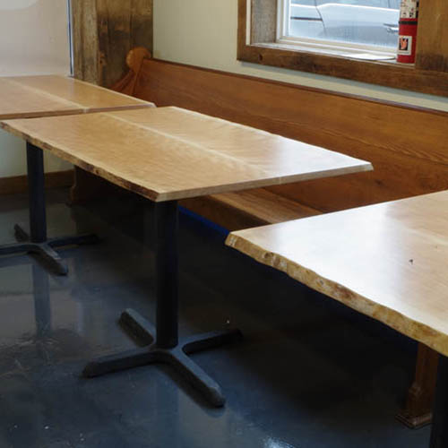 Custom Live Edge Tables for Cultivate Cafe in Chagrin Falls, OH