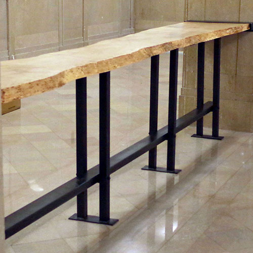 Custom Live Edge Bar for Westin Property in Downtown Cleveland, OH