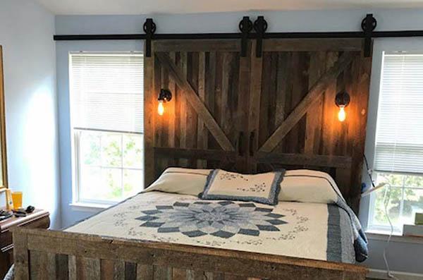 Custom Barnwood Bed