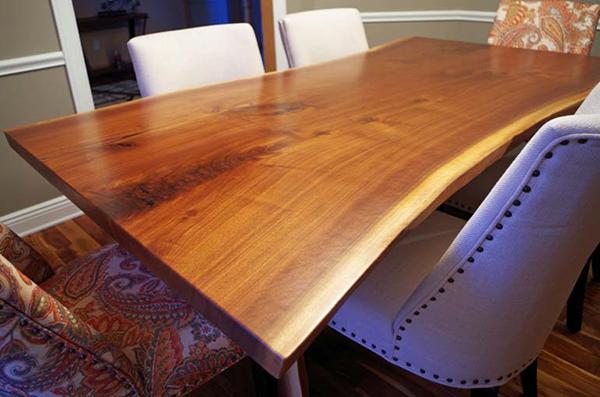 Live Edge Walnut Dining Room Table