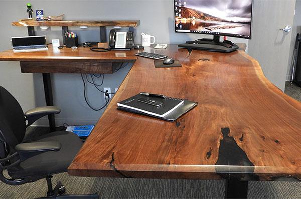 Ergonomic Live Edge Desk