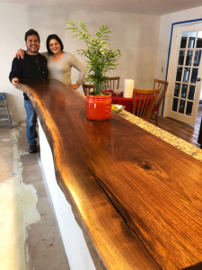 Live Edge Walnut Breakfast Bar Countertop For The Marcos