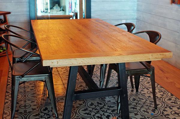 Rustic Oak Dining Room Table