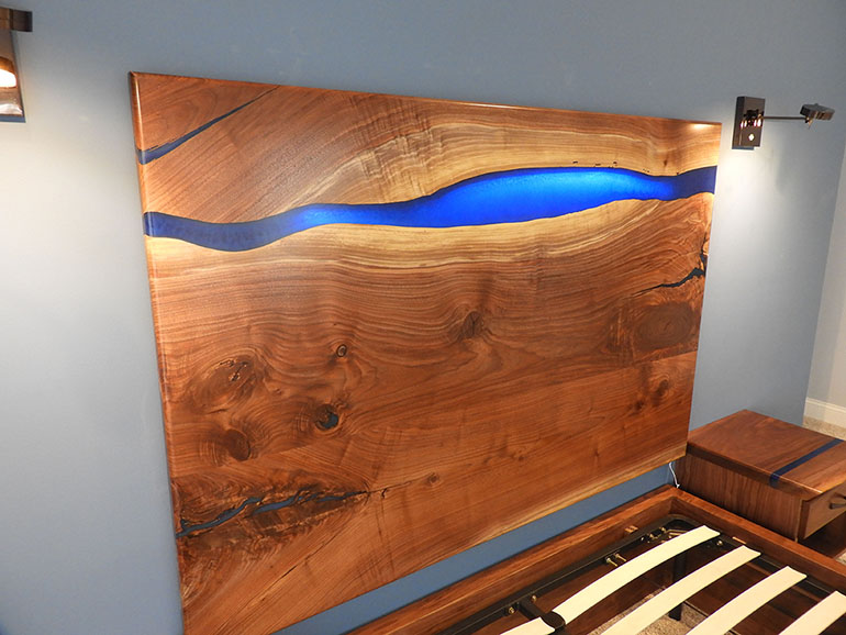 Buy Custom Made Epoxy Resin Beds, Bed Frames And Headboards For Sale Locally Near You (U.S. Only) And Online From CVCF