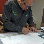 CVCF Founder Shel Myeroff In Action Drawing A Custom Furniture Design
