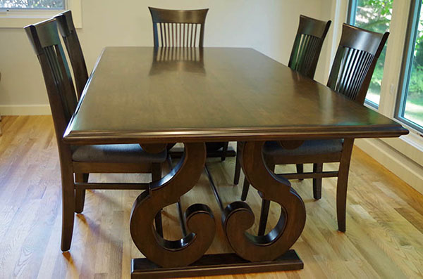Cherry Dining Room Table Refinished