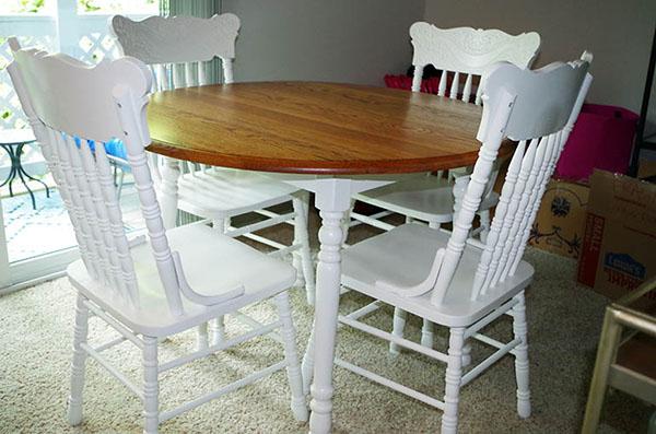 Dinner Table Repainted