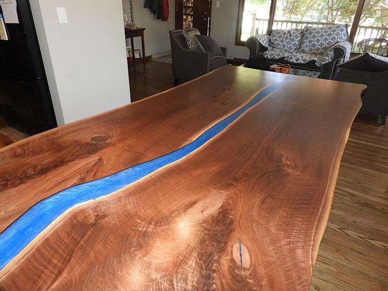 Live Edge Blue River Table For Alan & Paula