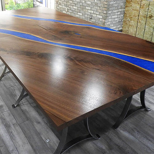 Learn More About Custom Live Edge Epoxy Resin Conference Tables