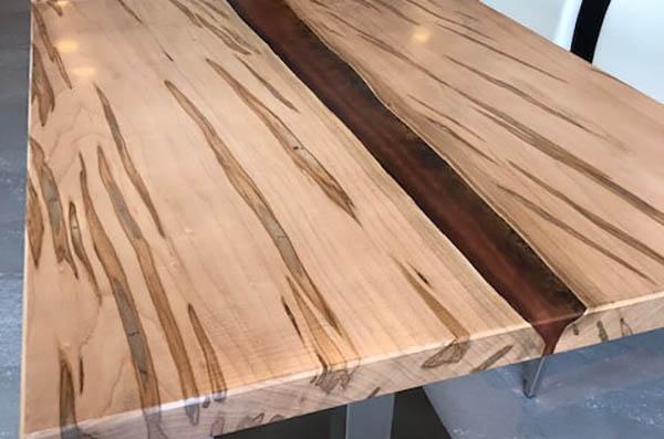 Live Edge Ambrosia Maple Epoxy Resin Tables