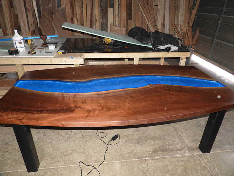Live Edge Conference River Table For The Dragras Group