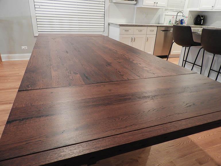 Rustic Barn Beam Harvest Table For Rachel And Efram