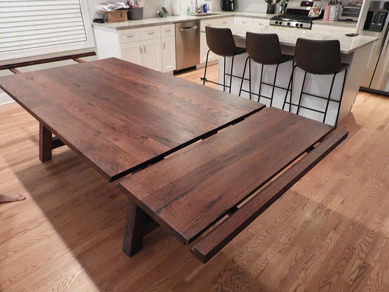 Custom Built Made-To-Order Rustic Farmhouse Dining Table $1,800+ [Extendable] | Rustic Barn Beam Farmhouse Dining Table [Harvest Table]