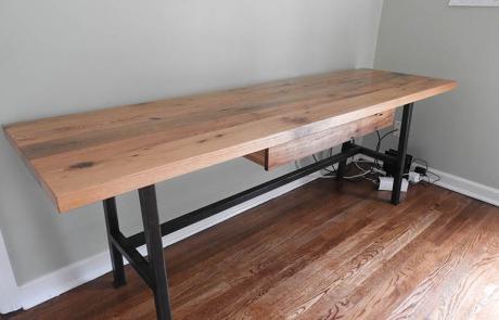 Rustic Barn Wood Desk For Stevie