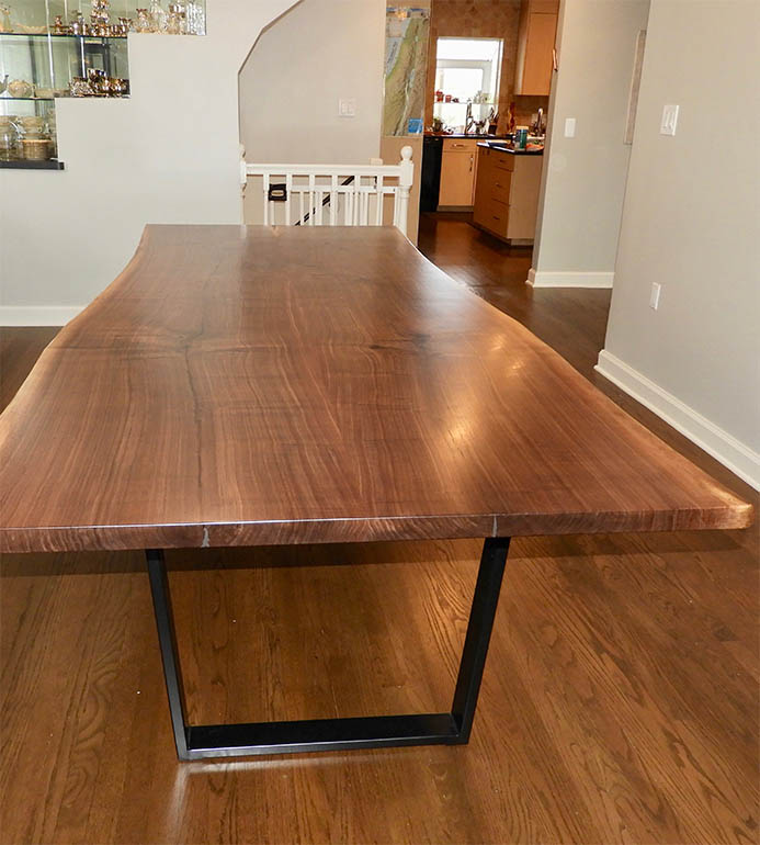 Walnut Live Edge Dining Table For Susan