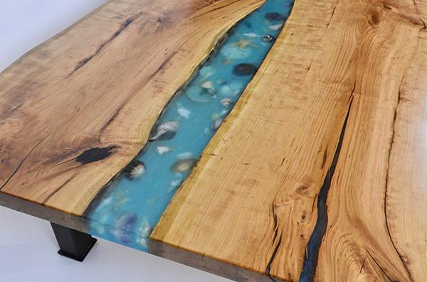 Live Edge Seashell Table