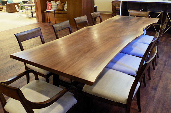Live Edge Walnut Conference Table for Weston, Inc.