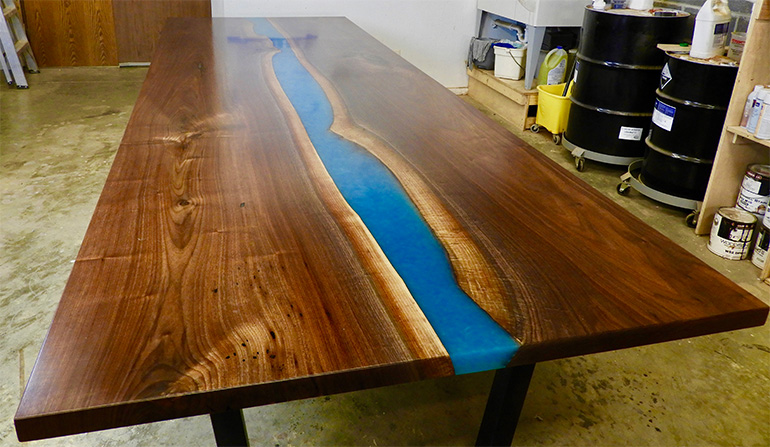 Live Edge River Conference Table - 12 Foot Design