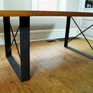 Shop for custom table legs and bases for handmade custom wood, steel, epoxy and metal furniture, here.