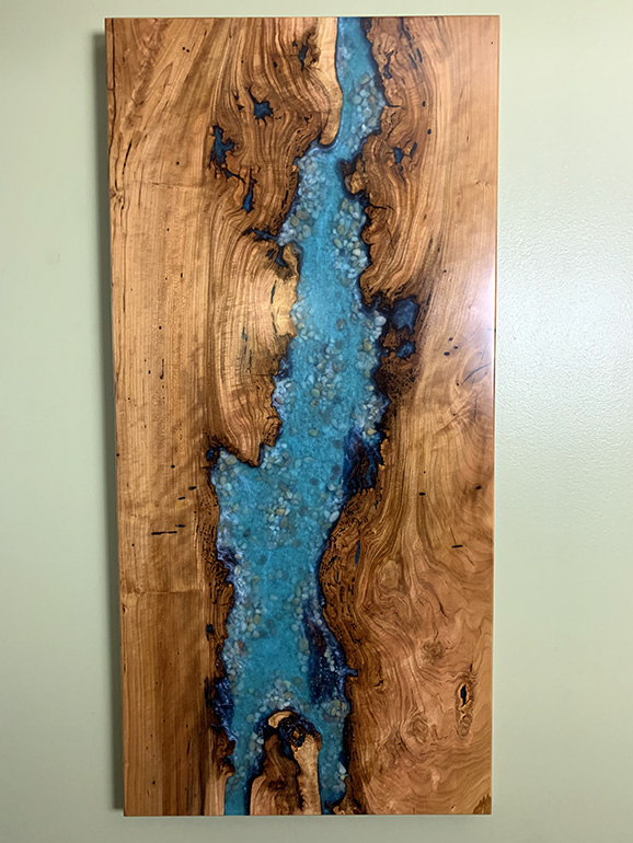 Cherry River Wall Hanging With Sand And Rocks