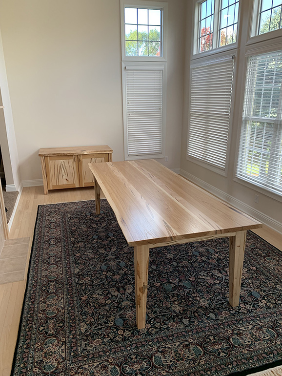 Modern Dining Table And Credenza For Steve WP4