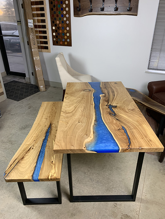 Elm River Bench And Kitchen Table For Steve