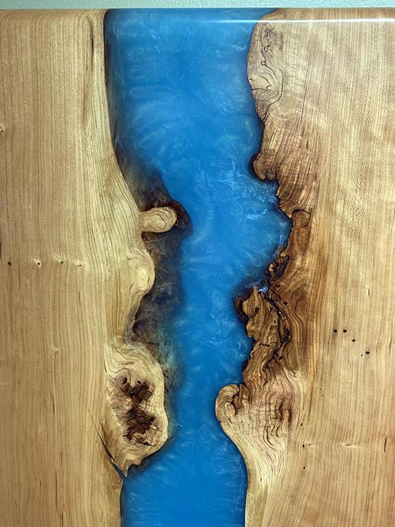 Cherry Epoxy Resin Wall Art