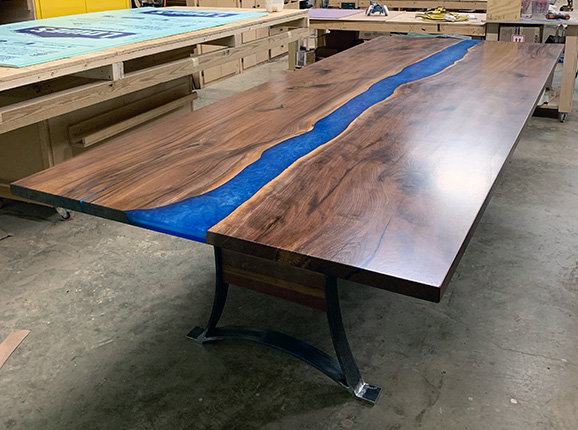 Walnut Epoxy Resin Conference Table