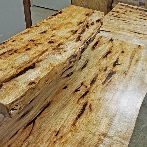 Live Edge Hickory Standing/Sitting Desk