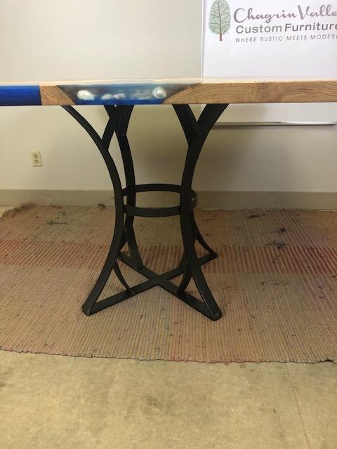 Live Edge White Oak Seashell Table