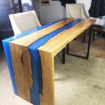 Epoxy Resin Waterfall Table