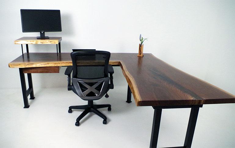 Live Edge Home Office Desk