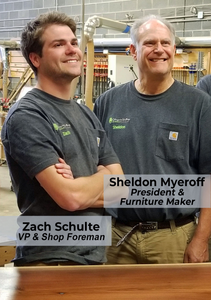 Sheldon Myeroff And Zach Schulte At Work Building Custom Furniture For Families All Across The U.S.